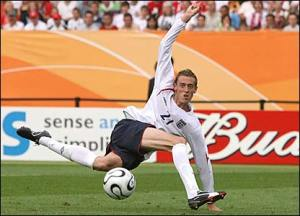 Peter Crouch loses his footing on the way up to the penalty spot, in a very similar manner to a blindfolded, heavily sedated newborn foal on ice, to send England out of the World Cup Quarter-Final shoot-out eliminator