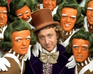 Monsieur Wonka and his factory workers: offended by President Sarkozy's actions